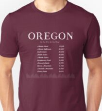 Oregon Top 10 Peaks Unisex T-Shirt