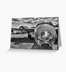 Black and White RAF Canberra bomber  Greeting Card