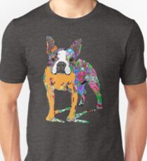Boston Terrier Graffiti Unisex T-Shirt