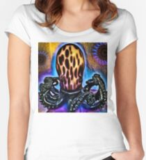 Octopus Smiles (Celebr8) Women's Fitted Scoop T-Shirt