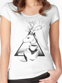 Metaphisical Deer Women's Fitted Scoop T-Shirt