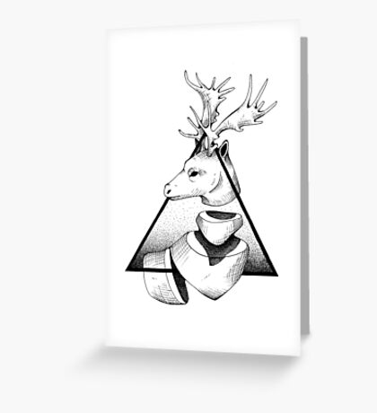Metaphisical Deer Greeting Card
