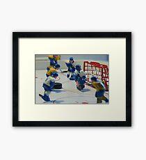 ice hockey attack Framed Print