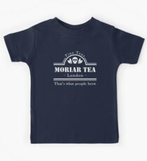 MoriarTea: What People Brew (white) Kids Tee