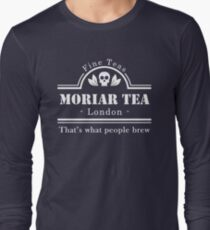 MoriarTea: What People Brew (white) Long Sleeve T-Shirt