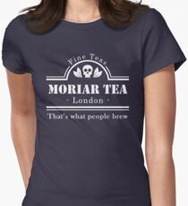 MoriarTea: What People Brew (white) Women's Fitted T-Shirt