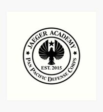 Jaeger Academy logo in black! Art Print