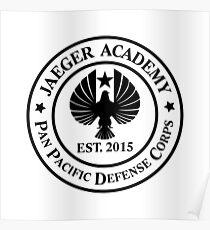 Jaeger Academy logo in black! Poster