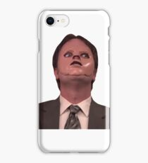 Dwight Schrute CPR Mask Funny iPhone Case/Skin