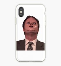 Dwight Schrute CPR Maske lustig iPhone-Hülle & Cover