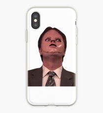 Vinilo o funda para iPhone Dwight Schrute CPR Mask Divertido