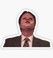Dwight Schrute CPR Maske lustig Sticker