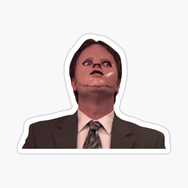 Dwight Schrute CPR Mask Funny Sticker