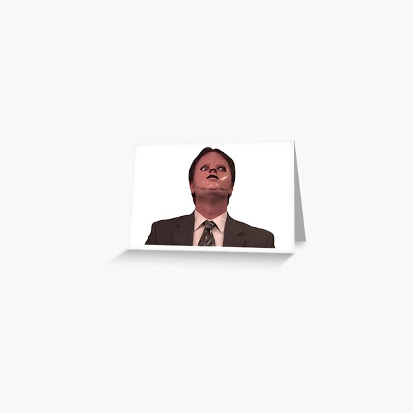 Dwight Schrute CPR Mask Lustig Grußkarte