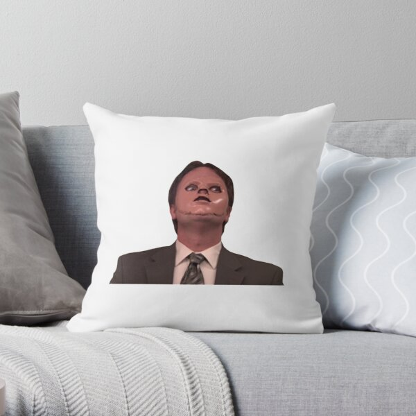 Dwight Schrute CPR Mask Funny Throw Pillow