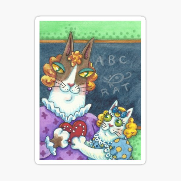 HISS N FITZ CATS - TEACHER'S VALENTINE Sticker