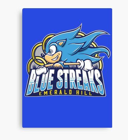 EH Blue Streaks Canvas Print