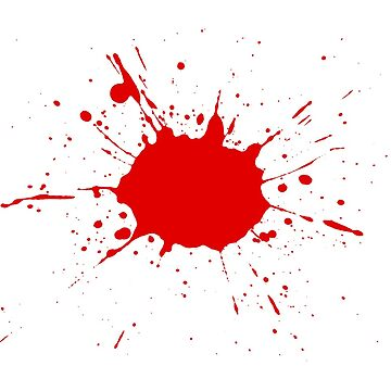Red paint splatter by davey459