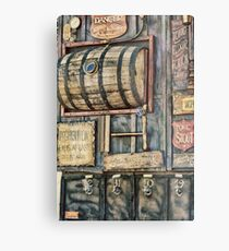 Steampunk Brewery Metal Print