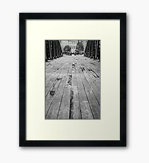 The old bridge at Leith Framed Print