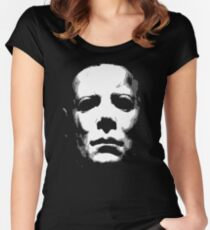 HALLOWEEN MASK Women's Fitted Scoop T-Shirt