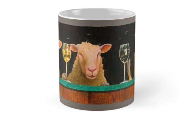 Will Bullas / mug / three sheeps to the wind... / humor / animals by Will Bullas
