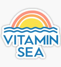 Vitamin C Sea Funny Beach Ocean Lovers Surfers Graphic Tee Beach Bums Sticker