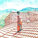 Tortora roof with chimney by Giuseppe Cocco
