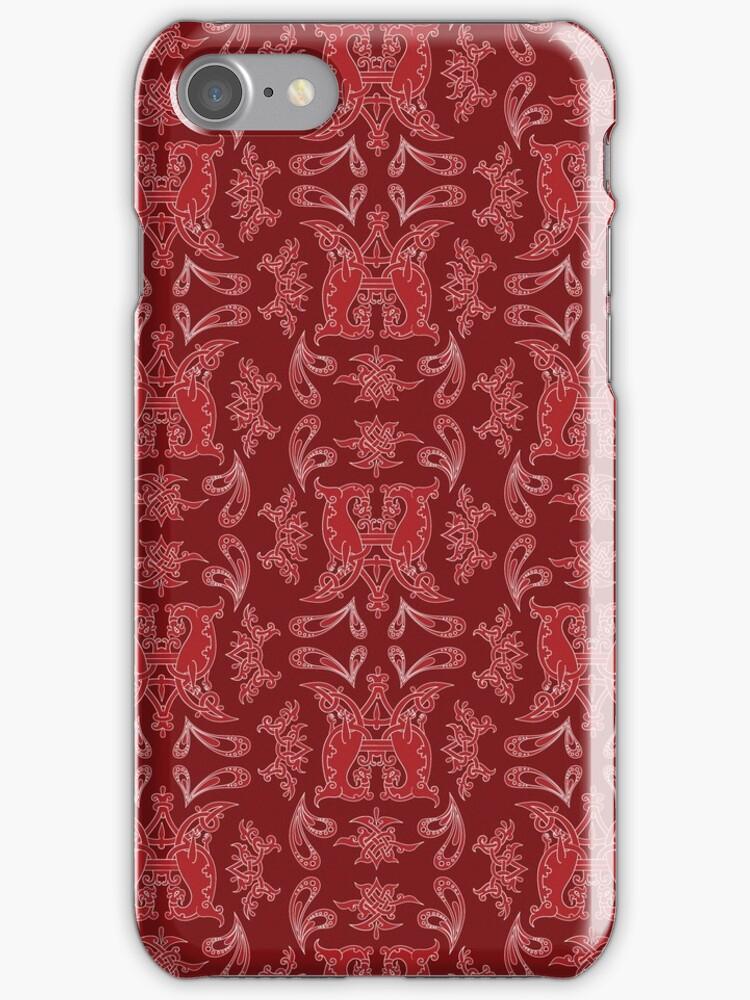 Burgundy + Red Slavinc Patterns by Mariya Olshevska