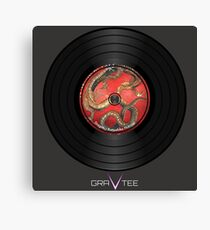 Dragon Vinyl Record Canvas Print