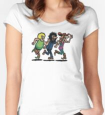 The Fabulous Furry Freak Brothers Women's Fitted Scoop T-Shirt