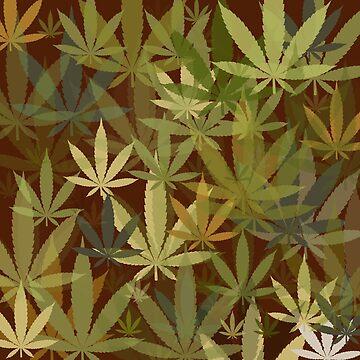 Marijuana Cannabis Weed Pot Humboldt County Camouflage by MarijuanaTshirt