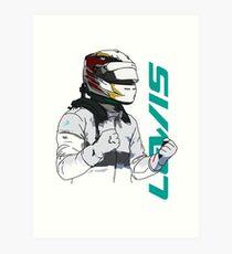 Lewis Hamilton Art Print