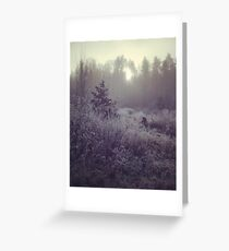 Winter Erinnerungen Greeting Card