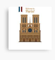 Paris Travel. Famous Place - Notre Dame Canvas Print