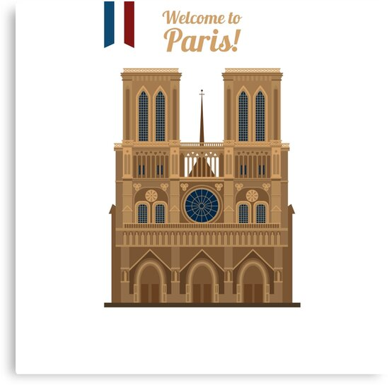 Paris Travel. Famous Place - Notre Dame by ivector