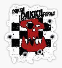 Ork Skull Dakka Sticker