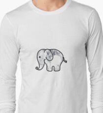 Camiseta de manga larga Elefante con relleno de mármol