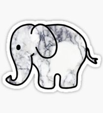 Elephant with Marble Fill Sticker