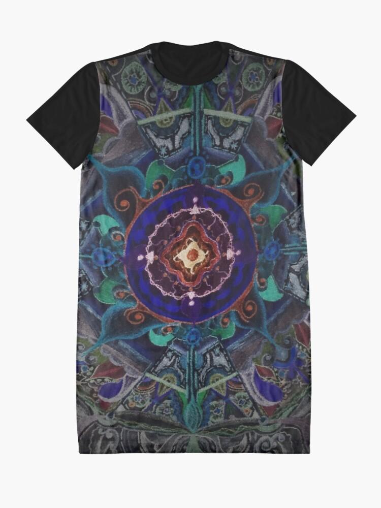 Vista alternativa de Vestido camiseta Mandala ponic