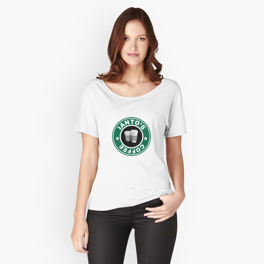 Torchwood- Ianto's Coffee Women's Relaxed Fit T-Shirt Front