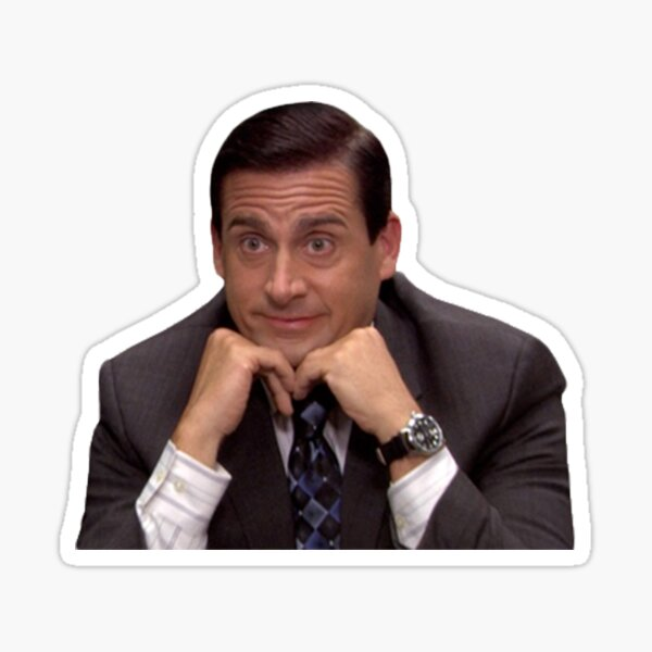 Michael Scott Tell Me More  Sticker