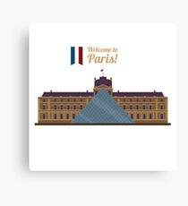 Paris Travel. Famous Place - Louvre Canvas Print