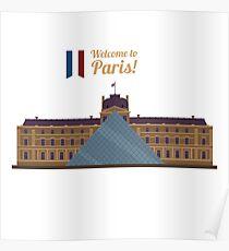Paris Travel. Famous Place - Louvre Poster