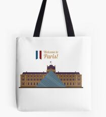 Paris Travel. Famous Place - Louvre Tote Bag