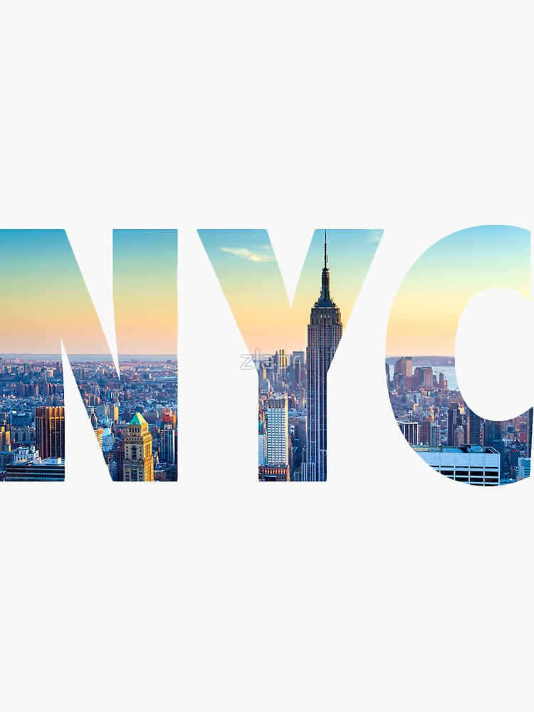 New York City - NYC Lettering by zlapr