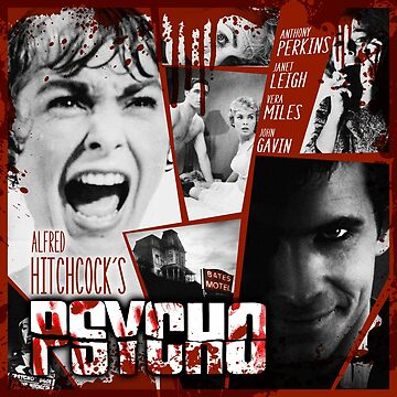 Hitchcock Psycho Movie by unclegertrude
