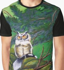 The Forest Owl Graphic T-Shirt