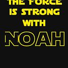 The Force is Strong With Noah Star Wars Graphic Tee Shirt by DesIndie