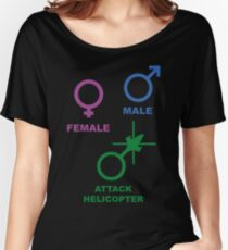 Attack Helicopter Gender Women's Relaxed Fit T-Shirt